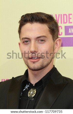Jackson Rathbone at the 2012 Video Music Awards Arrivals, Staples Center, Los Angeles, CA 09-06-12 - stock photo