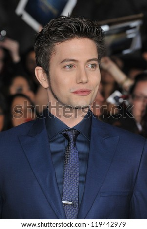 "Jackson Rathbone at the world premiere of his movie ""The Twilight Saga: Breaking Dawn - Part 2"" at the Nokia Theatre LA Live. November 12, 2012  Los Angeles, CA Picture: Paul Smith"