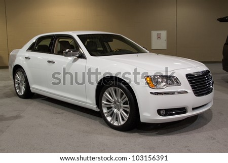 JACKSONVILLE, FLORIDA-FEBRUARY 18: A 2012 Chrysler 300 Limited at the Jacksonville Car Show on February 18, 2012 in Jacksonville, Florida. - stock photo