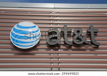 JACKSONVILLE, FLORIDA, USA - JULY 19, 2015: An AT&T Mobility sign in Jacksonville. AT&T Mobility is the second largest wireless telecommunications provider in the United States and Puerto Rico. - stock photo
