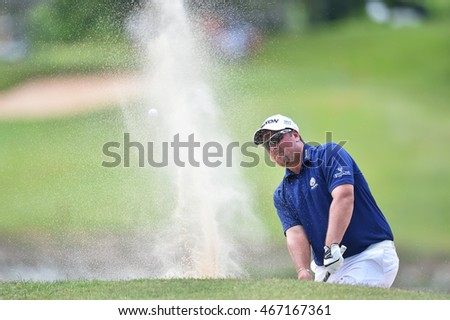 Jacob Ahlers of South Africa plays a shot during round four of the King's Cup at Phoenix Gold Golf and Country Club on July 31, 2016 in Pattaya, Thailand.