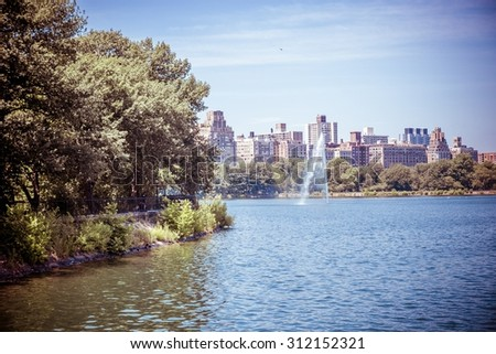 Jacqueline Kennedy Onassis Reservoir - stock photo