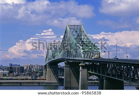 Jacques Cartier Bridge in Montreal, Quebec - stock photo