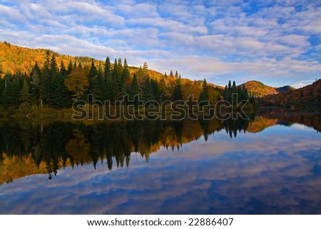 Jacques-Cartier Provincial Park Quebec 2 - stock photo