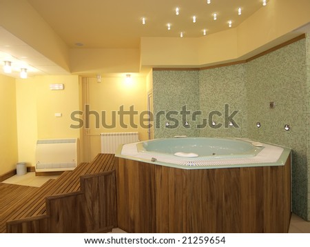 jacuzzi bath - stock photo