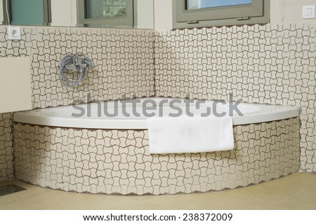 Jacuzzi in a modern Hotel - stock photo