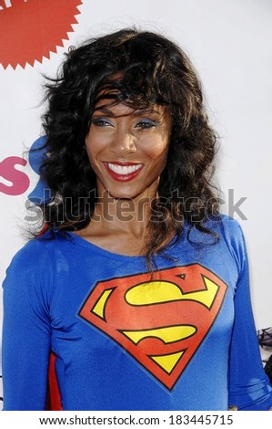 Jada Pinkett Smith at 15th Annual Dream Halloween for the Children Affected by AIDS Foundation, Barker Hangar at the Santa Monica Air Center, Santa Monica, CA, October 25, 2008 - stock photo