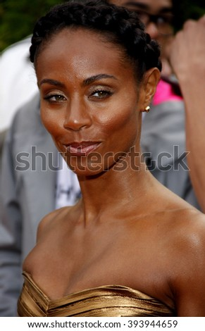 """Jada Pinkett Smith at the Los Angeles Premiere of """"The Karate Kid"""" held at the Mann Village Theater in Westwood, California, United States on June 7, 2010.  - stock photo"""