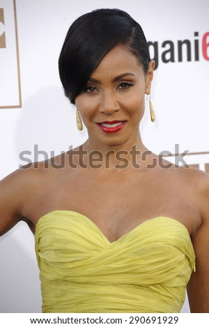 Jada Pinkett Smith at the World premiere of 'Magic Mike XXL' held at the TCL Chinese Theatre in Hollywood, USA on June 25, 2015.  - stock photo