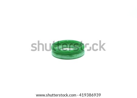 Jade bracelet on a white background