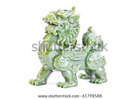 Jade Chinese Sacred Animal (call in chinese is PE-SIA) - stock photo