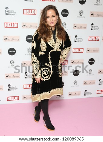 Jade Jagger arriving at the The Amy Winehouse foundation ball held at the Dorchester hotel, London. 20/11/2012 Picture by: Henry Harris - stock photo