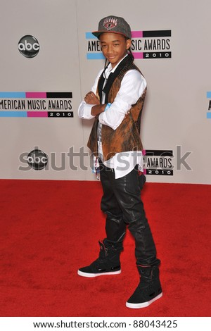 Jaden Smith at the 2010 American Music Awards at the Nokia Theatre L.A. Live in downtown Los Angeles. November 21, 2010  Los Angeles, CA Picture: Paul Smith / Featureflash