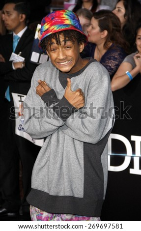 """Jaden Smith at the Los Angeles premiere of """"Divergent"""" held at the Regency Bruin Theatre in Westwood on March 18, 2014 in Los Angeles, California.  - stock photo"""
