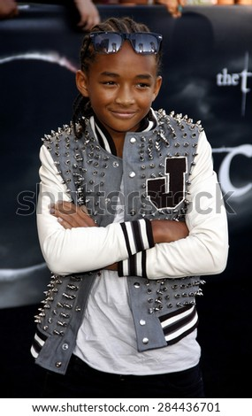 Jaden Smith at the Los Angeles premiere of 'The Twilight Saga: Eclipse' held at the Nokia Theatre L.A. Live in Los Angeles on June 24, 2010. - stock photo