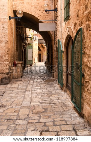 Jaffa is a southern, oldest part of Tel Aviv - Jaffa municipality (since 1950), an ancient port city (closed losed as a port in 1965)