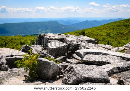 Jagged Rocks at High Allegheny - stock photo