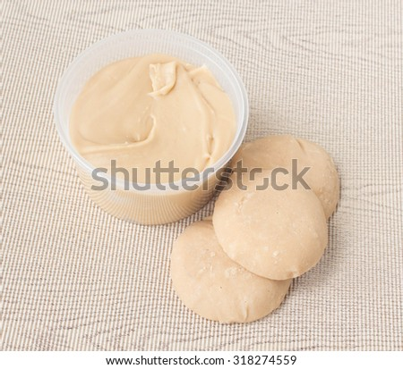 Jaggery Sugar made from coconut - stock photo
