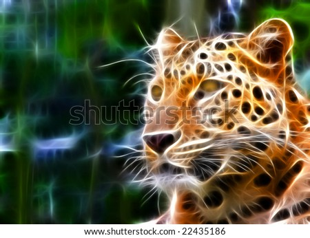 jaguar illustration - stock photo