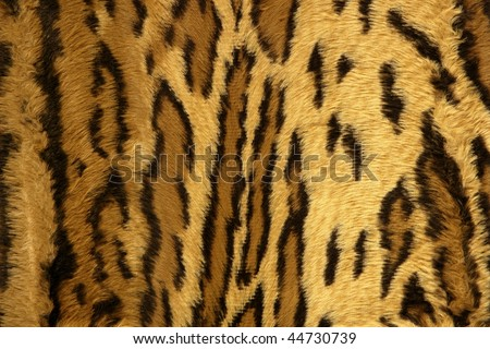 Jaguar leopard fantasy fabric fur texture background - stock photo