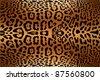 Jaguar or leopard black spots over yellow background fur texture - stock photo