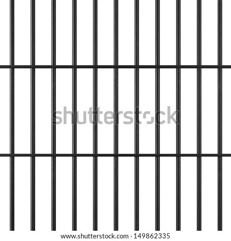 Jail bars - stock photo