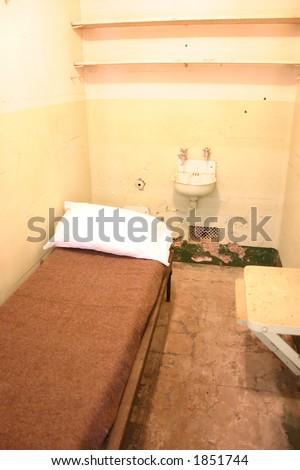 Jail Cell, Alcatraz - stock photo
