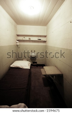 Jail Cell without bars - stock photo