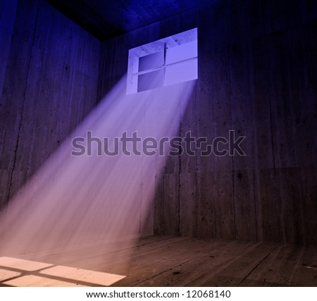 Jail color background - stock photo