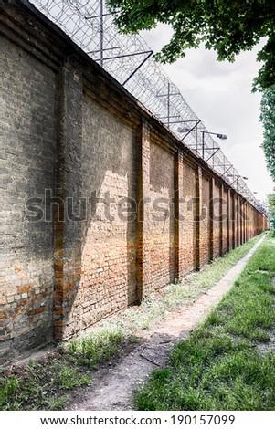 jail fence - stock photo