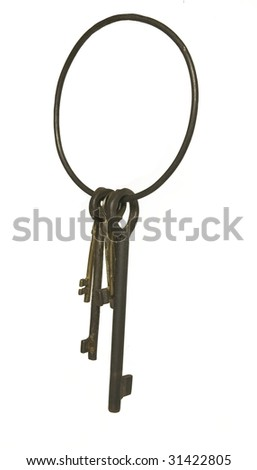 jailers key chain isolated on white