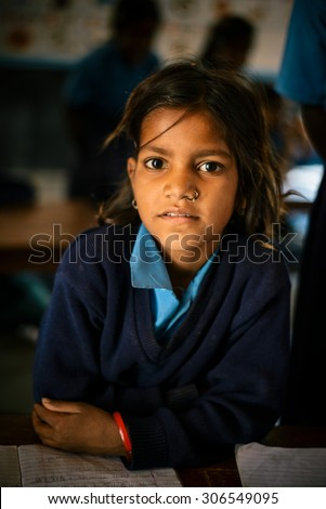 JAIPUR-MARCH 04 :children playing in the classroom on March 04, 2014 in Jaipur,india - stock photo