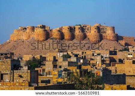 Jaisalmer Fort , India - stock photo