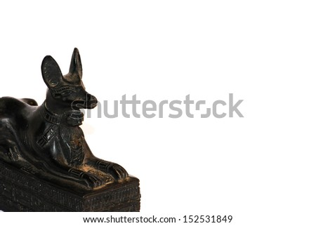 Jakal-Headed Egyptian God Anubis in 3D - stock photo