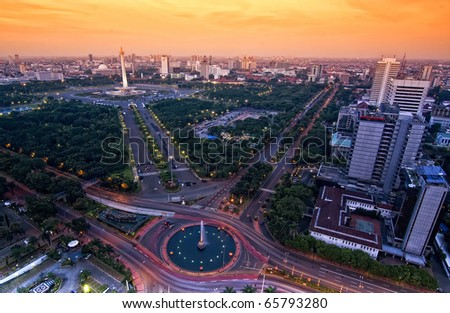 Jakarta Landmark - stock photo