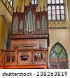 JAKARTA - MAY 8: Roman Catholic Cathedral on May 8, 2013 in Jakarta, Indonesia. Church organ in the cathedral, seat of the Roman Catholic Archbishop of Jakarta. - stock photo