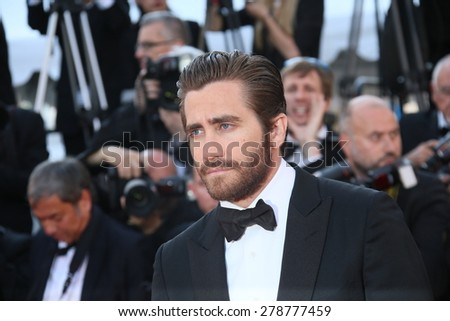 Jake Gyllenhaal attends the 'Carol' Premiere during the 68th annual Cannes Film Festival on May 17, 2015 in Cannes, France. - stock photo
