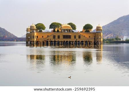 Jal Mahal palace, Jaipur, India - stock photo