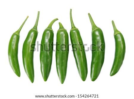 Jalapeno  Peppers isolated on  White Background  - stock photo