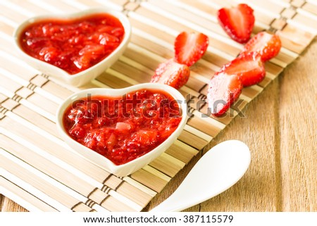 Jam fruit strawberry and oranges - stock photo