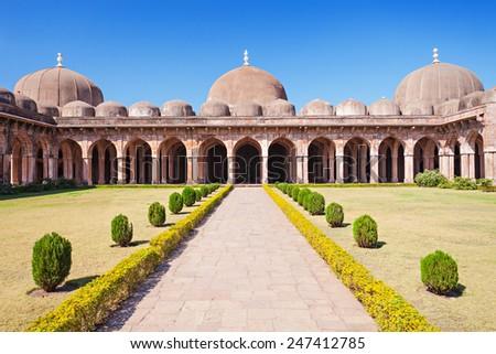 Jama Masjid in Mandu, Madhya Pradesh, India - stock photo