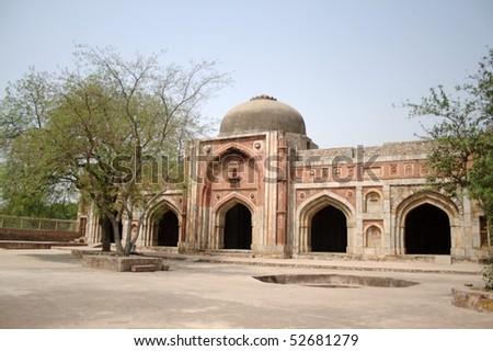 Jamali-Kamali's Mosque at Mehrauli Archaeological Park, New Delhi - stock photo