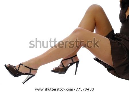jambes de femme - stock photo