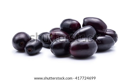 Jambolan plum, Java plum on white background