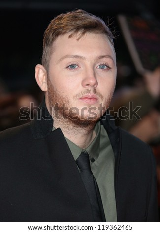 "James Arthur arriving for the ""The Twilight Saga: Breaking Dawn Part 2"" premiere at the Odeon Leicester Square, London. 14/11/2012 Picture by: Henry Harris - stock photo"