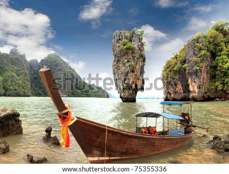 James Bond Island, Phang Nga, Thailand - stock photo