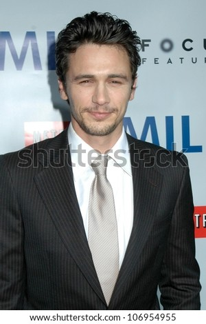James Franco  at the Los Angeles Premiere of 'Milk'. Academy of Motion Pictures Arts And Sciences, Beverly Hills, CA. 11-13-08 - stock photo