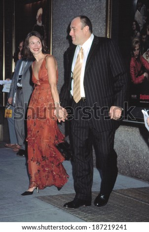 James Gandolfini and guest at premiere of THE SOPRANOS, NY 9/5/2002