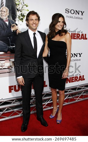 James Marsden at the Los Angeles premiere of 'Death At A Funeral' held at the ArcLight Cinerama Dome in Hollywood on April 12, 2010.  - stock photo