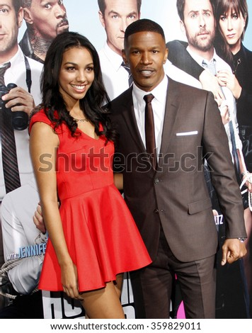 "Jamie Foxx and Corinne Bishop at the Los Angeles premiere of ""Horrible Bosses 2"" held at the TCL Chinese Theater in Los Angeles, USA on November 20, 2014."